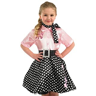 Rock n Roll Dress costume : Kids size Extra Large 10 - 12 yrs by Fun Shack