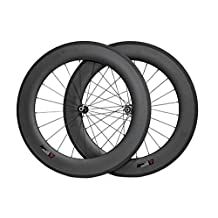 Hulk-sports 700c Carbon Road Bike Tubular 88mm Wheelset Custom Hole Drilling Road Bicycle Wheels With 23mm Width
