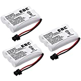 EBL Pack of 3 BT-446 Rechargeable Cordless Phone Replacement Batteries for Uniden BT-446 BT446, BP-446 BP446, BT-1005 BT1005, 3.6V 1000mAh NiMH