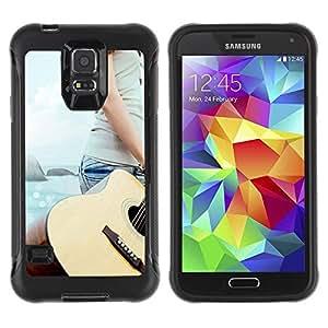 """Hypernova Defender Series TPU protection Cas Case Coque pour Samsung Galaxy S5 V [Música Guitarra Beach""""]"""