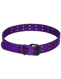 Cinturón de lona con doble ojal, 12 colores