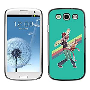 All Phone Most Case / Hard PC Metal piece Shell Slim Cover Protective Case Carcasa Funda Caso de protección para Samsung Galaxy S3 I9300 Rainbow Lgbt Ukulele Hippie Art Painting
