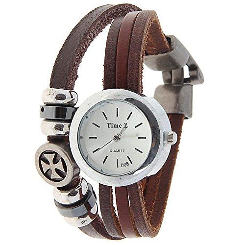 CRF Personalizada de elementos de moda relojes antiguos relojes relojes de moda de cuero de estilo romano minimalista femenina de punk: Amazon.es: Relojes