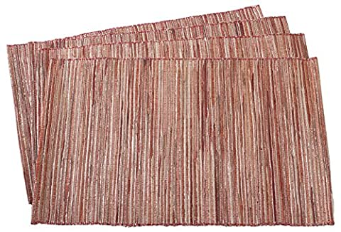 SARO LIFESTYLE Shimmering Woven Nubby Placemat, 14
