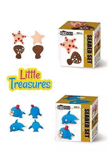 Set of 2 Air-Dry Molding play-dough kits 2-in-1 create yo...
