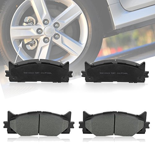 Ceramic Front Brake Pads for 2007-2016 Toyota Camry Avalon Lexus 350 Low-Dust Quiet Brake Pads Set 4 PCS for Both Front Wheels