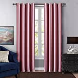 Dreaming Casa Grommet Top Solid Blackout Curtain Drapes Treatment Pink Two Panels 100'' W x 96'' L