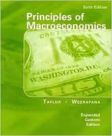 Principles of macroeconomics taylor weerapana