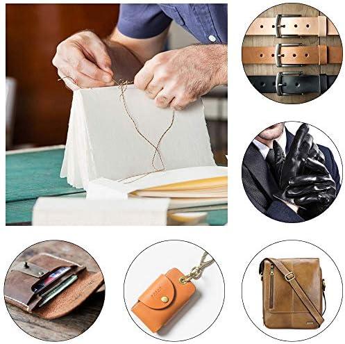 TF Juego de agujas de coser de cuero de metal y cuero con punz/ón de costura dedal para tapicer/ía alfombras reparaci/ón de zapatos lona pieles