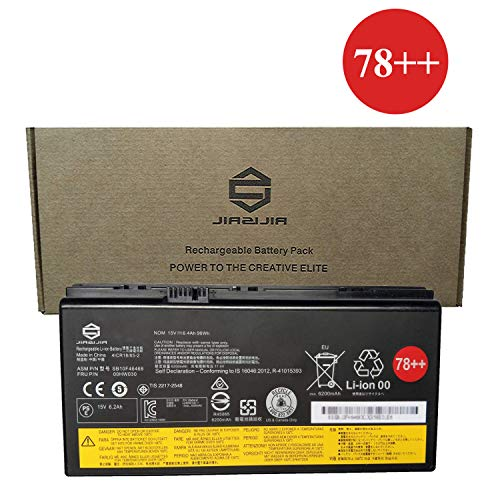 JIAZIJIA 00HW030 Laptop Battery Compatible with Lenovo ThinkPad P70 P71 Series Notebook 78++ SB10F46468 01AV451 4X50K14092 Black 15V 96Wh 6400mAh 8-Cell