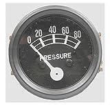 Sparex, S.60758 Gauge, Oil Pressure, 80 Lb Black Bezel For Ford Massey Fergusonpre 100 Series 2000, 2N, 4000, 600, 601, 700, 701, 800, 801, 8N, 900, 901, 9N, Jubilee, NAA65MF 35, MF 50
