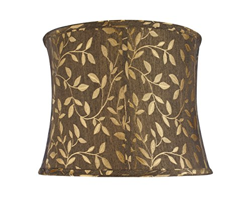 Aspen Creative 30041 Transitional Bell Shape Spider Construction Lamp Shade in Brown, 14