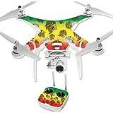 MightySkins Protective Vinyl Skin Decal for DJI Phantom 3 Professional Quadcopter Drone wrap cover sticker skins Rasta Lion