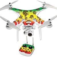 MightySkins Protective Vinyl Skin Decal for DJI Phantom 3 Professional Quadcopter Drone wrap cover sticker skins Rasta Lion