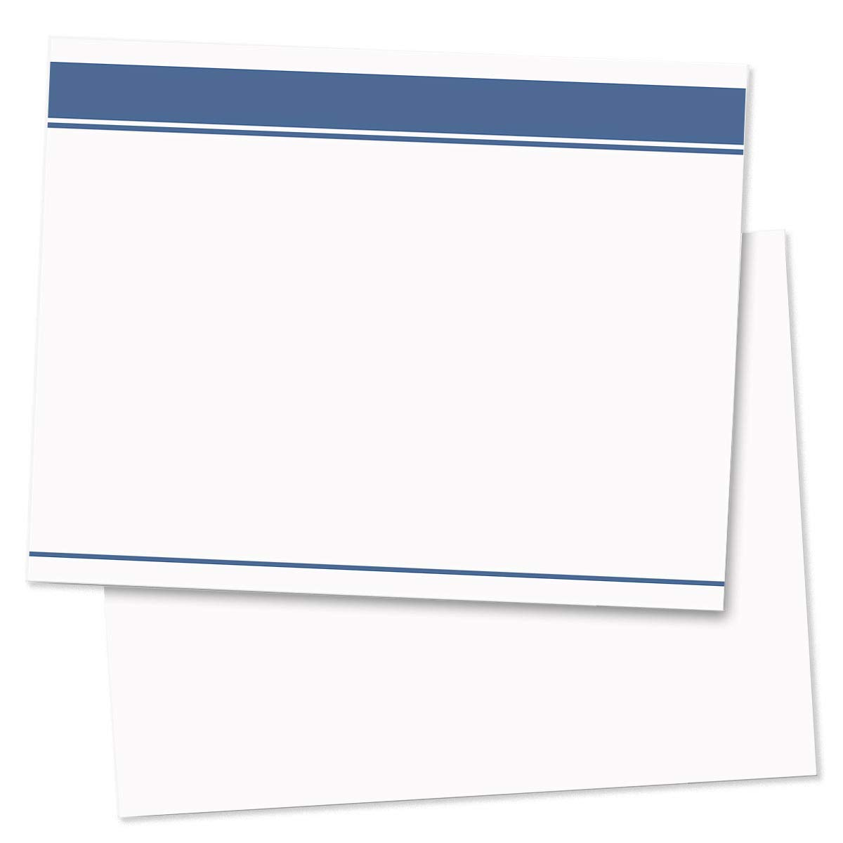 Blue Striped Postcards, Jumbo Size, 200 Count