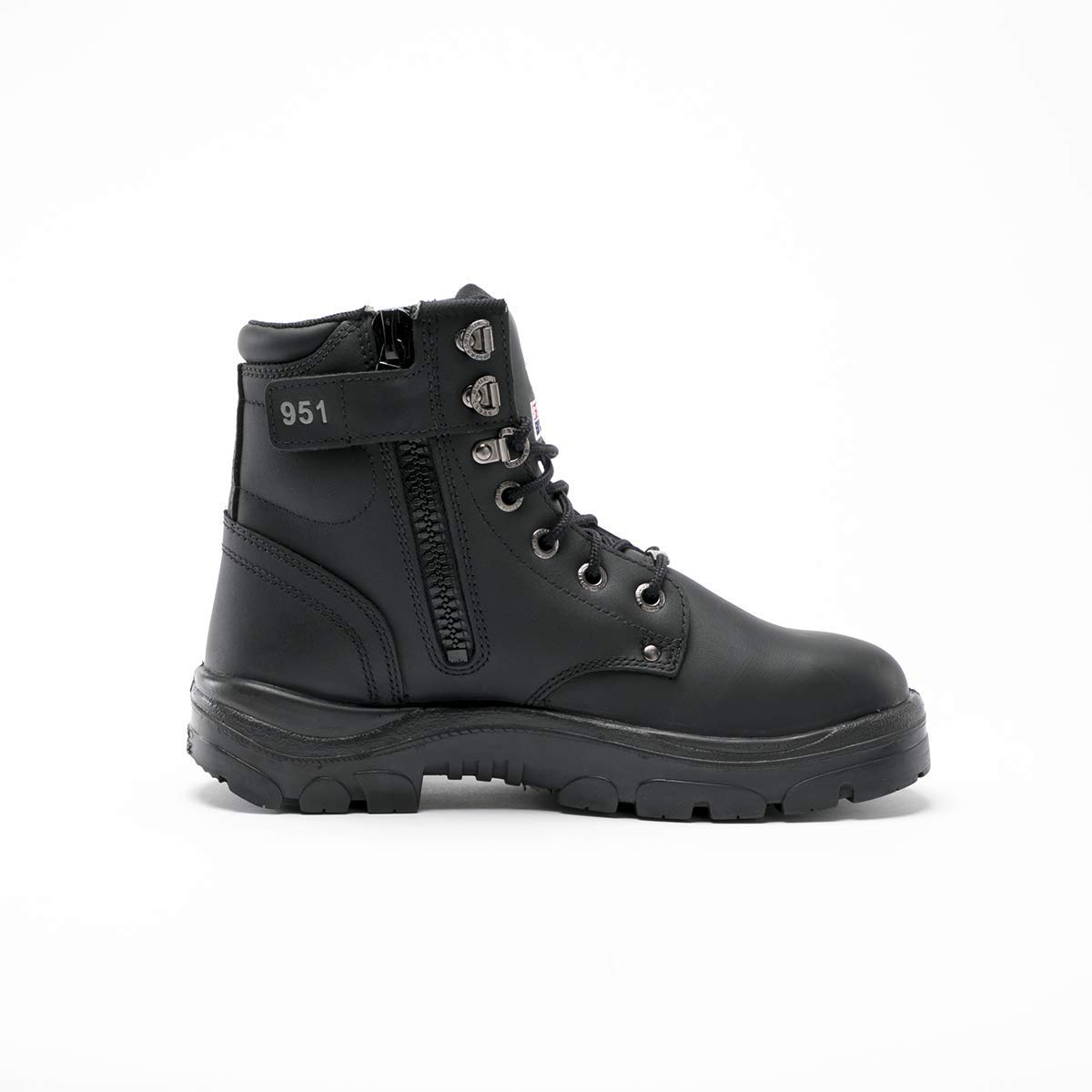 3f3aad28dcc Amazon.com: Steel Blue 312951M-070-BLK Argyle Zip Boot, Black ...