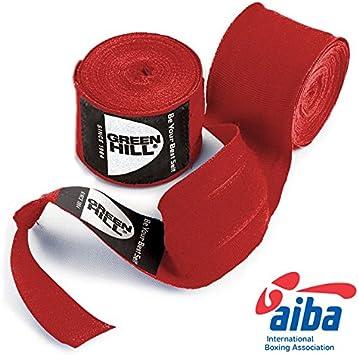 GREEN HILL Vendajes DE Mano Boxeo ELÁSTICAS Kick Boxing Venda ELÁSTICA Negro Rojo Azul Aprobado AIBA HOMOLOGADO: Amazon.es: Deportes y aire libre