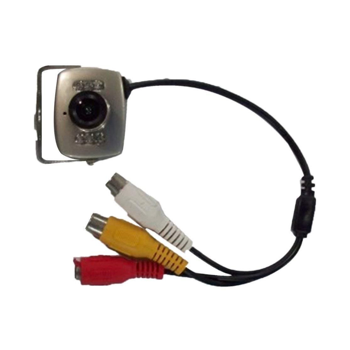 Mini c/ámara C/ámara de Video de vigilancia de Seguridad de visi/ón Nocturna por Infrarrojos 420 l/íneas de TV Sensor CMOS Videoc/ámaras con Lente de 3.6 mm Kaemma Color:Silver