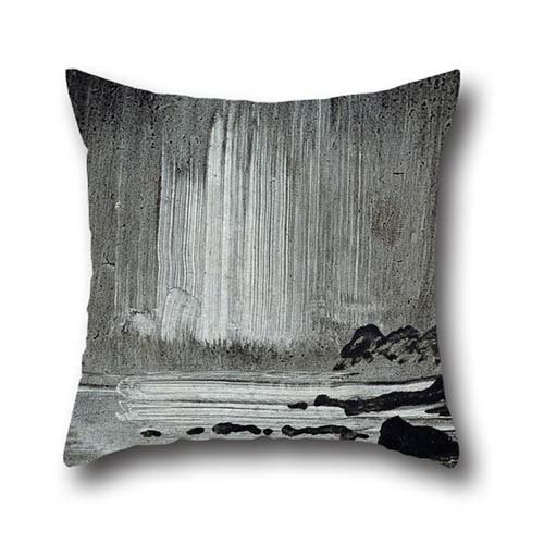 20 X 20 Inches / 50 By 50 Cm Oil Painting Peder Balke - Northern Lights Over Coastal Landscape Cushion Covers ,2 Sides Ornament And Gift To Bench,home Theater,home Office,pub,bar,lounge -