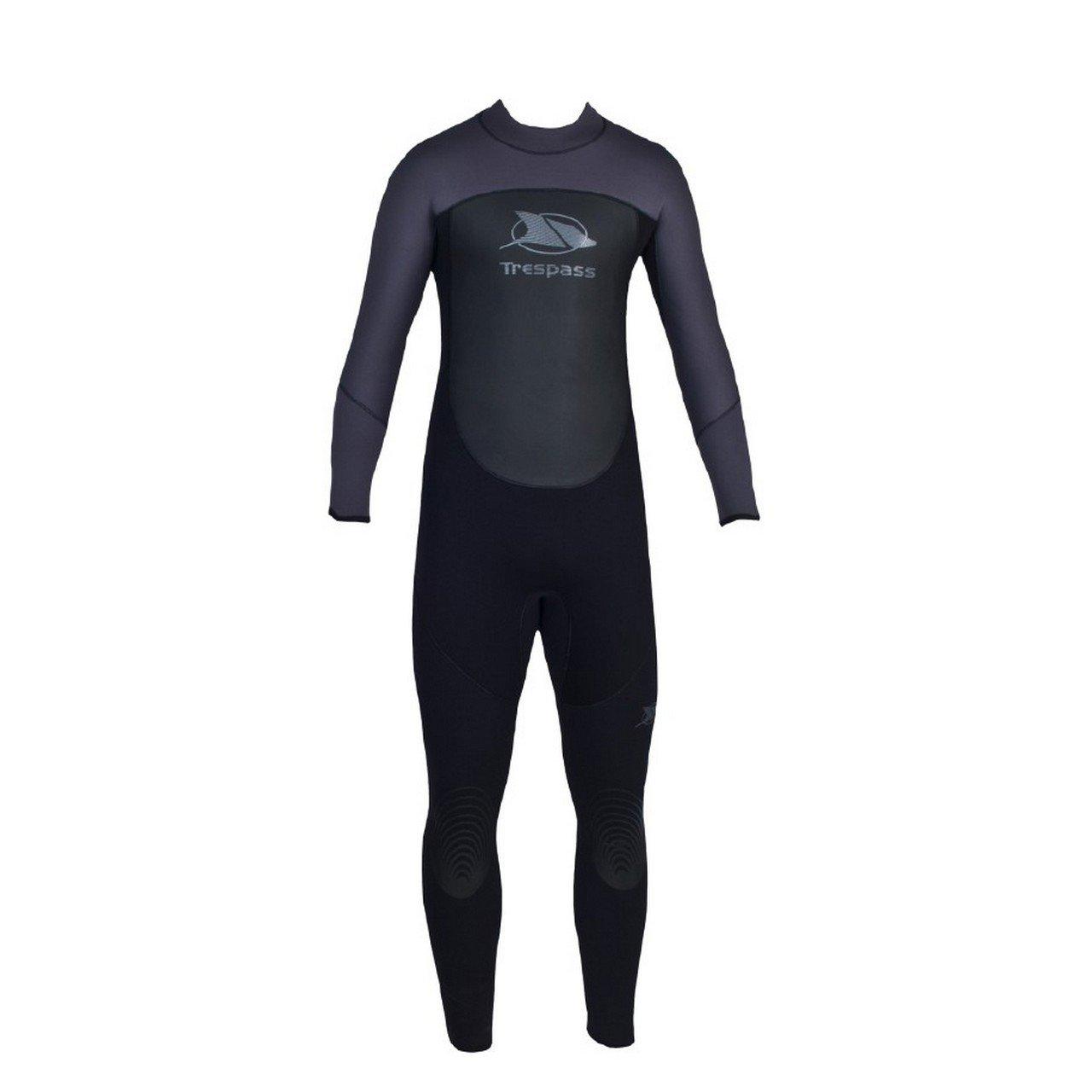 Trespass Diver Mens 5mm Full Length Neoprene Wetsuit (XS) (Black) by Trespass