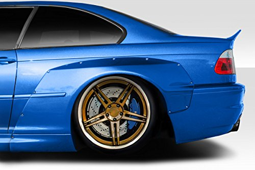 Duraflex Replacement for 2001-2006 BMW M3 E46 Circuit Rear Fender Flares - 2 Piece ()
