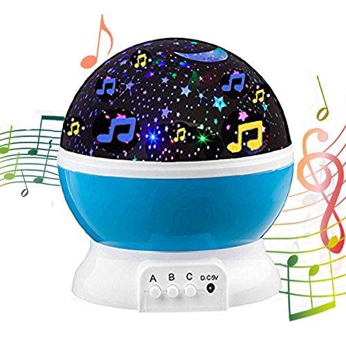Rotating Projector Starry Music Night Lamp Star Sky Romantic