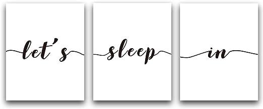 Wall Art Lets sleep in black text Wall Print  Decor