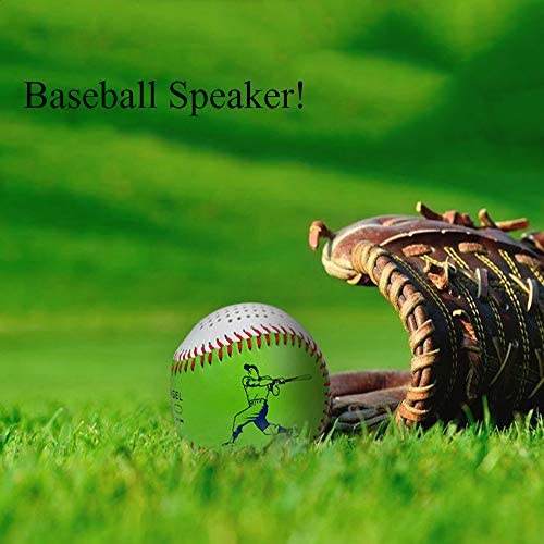 BVI BOOMERVIVI Baseball Bluetooth Speaker 2.8-Inch Mini Portable Wireless Speaker with Bluetooth V4.0,Hi-Fi Sound Perfect for Home//Outdoor//Others(Baseball)
