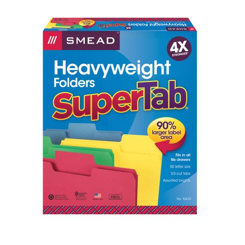Smead-SuperTab-Heavyweight-Folders-Letter-Size-13-Cut-Tabs-50-per-Box
