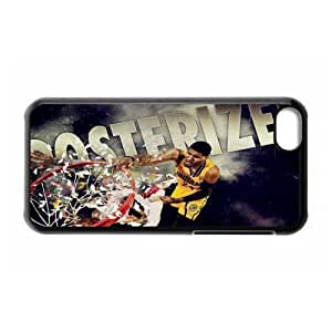 NBA Team 3 Indiana Pacers Paul George Print Black Case With Hard Shell Cover for Apple iPhone 5C