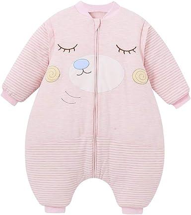 Saco de Dormir para bebé Todo el año con pies con Mangas extraíbles Patrón de Oso Pijama recién Nacido Engrosado de Invierno Rosa: Amazon.es: Ropa y accesorios