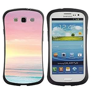 "Pulsar iFace Series Tpu silicona Carcasa Funda Case para SAMSUNG Galaxy S3 III / i9300 / i747 , Mar Océano Summer Sun Beach Purple"""