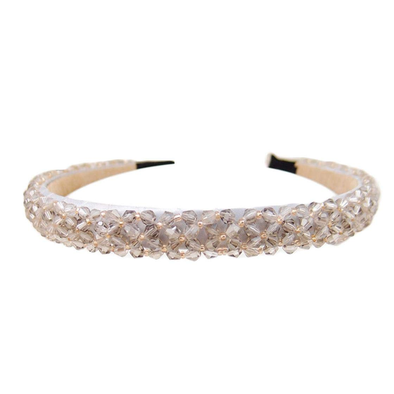 Women Girls Bling Rhinestone Crystal Headband Hair Band Head Piece Chain Jewelry