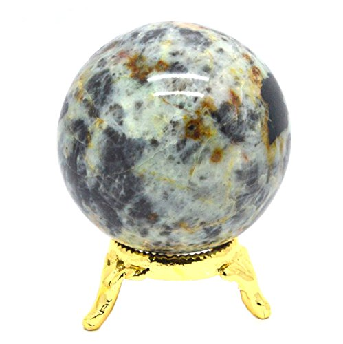 Stone Bowl Pendant (Shivansh Creations Natural Gemstone Crystal Sphere Metaphysical Ball (Crysocolla))