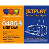 1 x JETPLAY T485 Light Cyan for EpCompatible Ink Cartridge son Stylus Photo R200, R220, R300, R300M, R320, R340, RX500, RX600, RX620, RX640 Replacement for T0485