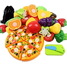 LoveS 24pcs Cutting Fruit Vegetable Pretend Play Children Kid Educational Toy