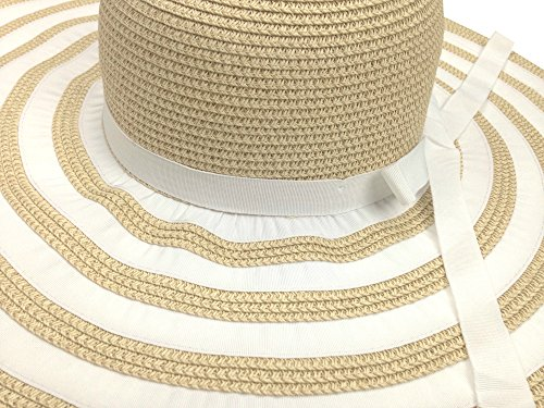 6c25644094a Livativ Bleu Nero Luxury Floppy Hat Beach Sun Hat for Women – Straw Hat  Wide Brim 50+ SPF Sun Protection – Large Wide Brimmed Packable Crushable  Summer ...
