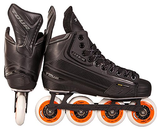 (TOUR HOCKEY CODE 3 SENIOR INLINE HOCKEY SKATES BLACK SIZE 9.5)