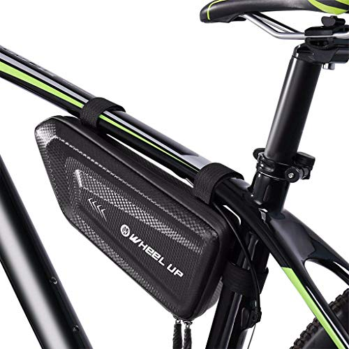 Lucksoon Bike Storage Frame Bag, Bicycle Front Tube Triangle Water Resistant Cycling Pack Strap On Saddle Pouch Bike Accessories Tool accessible Storage Bag for Road MTB Bike Tools