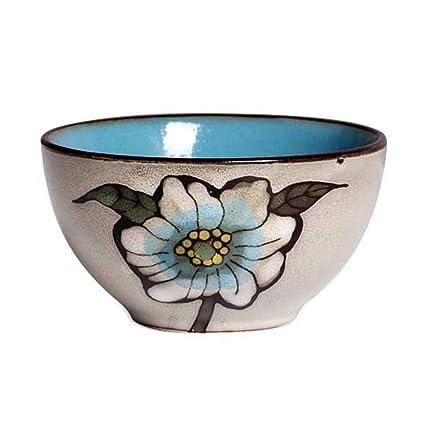 Tazón de Fuente de Ensalada de cerámica, Placa del Sistema de los Cubiertos de la