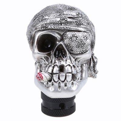 POSSBAY Car Gear Shift Knob Shifter Lever Stick Skull Head Manual Resin