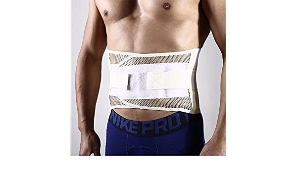 Faja lumbar, cinturón de soporte lumbar doble ajustable correas ...
