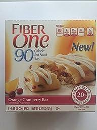Fiber One 90 Calorie - Orange Cranberry Bars 6 ct - (Pack of 4)