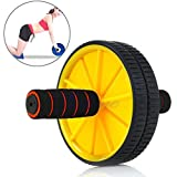 Aurion AB777 Plastic Ab Wheel with Free Mat (Yellow/Blue/Green)