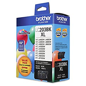 Brother MFC-J485DW Black Original Ink High Yield (550 Yield) - 2/PK