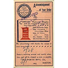 Vintage Advertising Postcard: Walworth Mfg. Co. Tools & Supplies for Steam, Water & Gas Users
