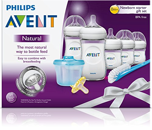 Philips Avent Natural Newborn Baby Bottle Starter Set, SCD296/02 by Philips AVENT (Image #1)