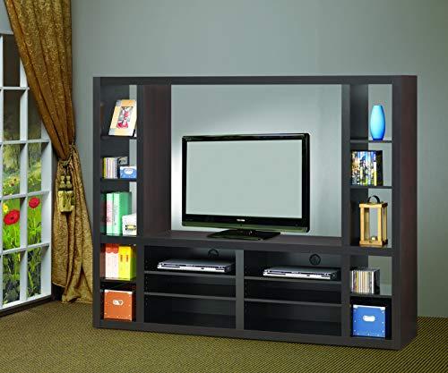 Contemporary Entertainment Wall Unit - Coaster Home Furnishings 700620 Entertainment Wall Unit Cappuccino