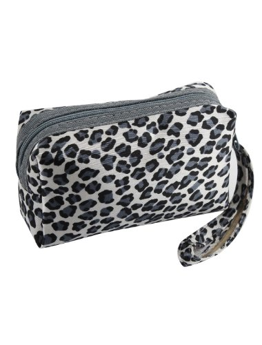Nailon Correa Estampado De Leopardo Mini Cartera Money ID Tarjetero para mujer Negro,Gris,Blanco