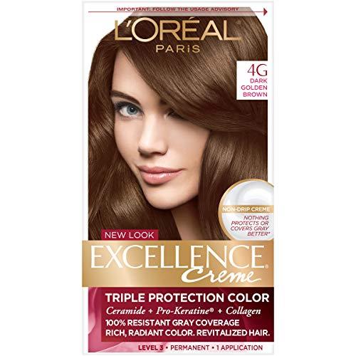 L'Oreal Paris Excellence Creme Hair Color, 4G Dark Golden Brown -  A035-38